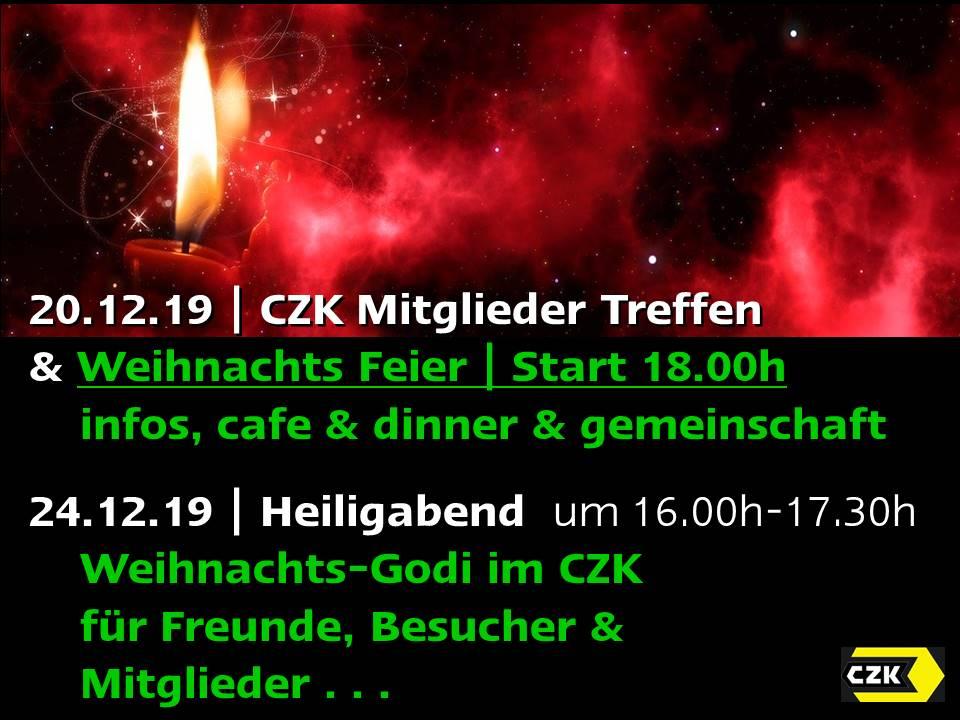 CZK Weihnachtsfeier & Mitgliedertreffen 20.12.19 + XMAs Godi am 24.12.19 @ CZK Gebäude | Karlsruhe | Baden-Württemberg | Deutschland